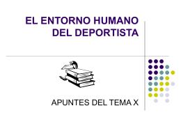 EL ENTORNO HUMANO DEL DEPORTISTA