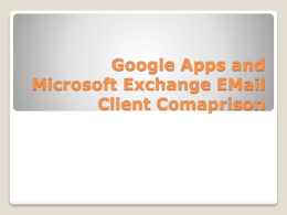 Google Apps and Microsoft Exchange EMail Client …