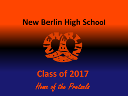 New Berlin High School Class of 2011