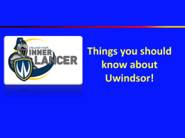 Review - Europe - University of Windsor