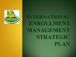 International Enrollment Management