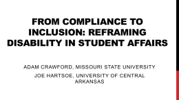 From Compliance to Inclusion: Reframing Disability in