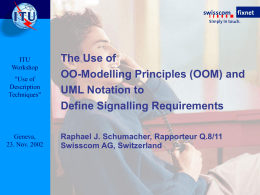 Use of Object-Oriented Modelling (OOM) Principles …