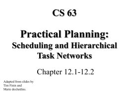 Practical Planning: Scheduling and Hierarchical Task …