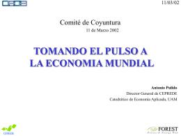 TOMANDO EL PULSO A LA ECONOMIA MUNDIAL