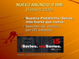 NUEVO ANUNCIO i5 IBM (Feb 2006)