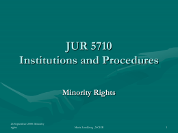 Minority Rights: International Standards