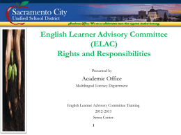 ELAC Training Powerpoint Presentation (English)