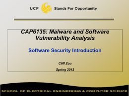Software Security Introduction (PowerPoint)