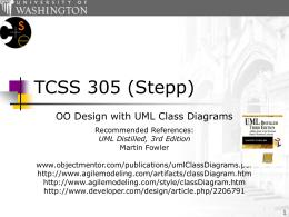 TCSS 305 UML Class Diagrams