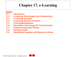 Chapter 17, e-Learning - Internet Entrepreneurship