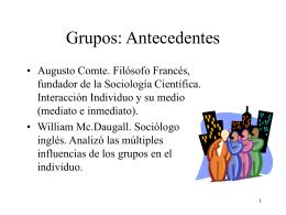 Grupos: Antecedentes