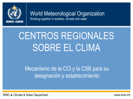 REGIONAL CLIMATE CENTRES