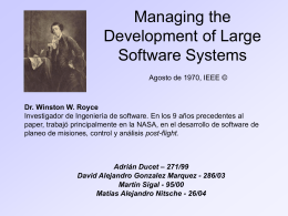 Managing the Development of Large Software Systems