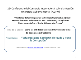 22nd International Consortium on Governmental Financial