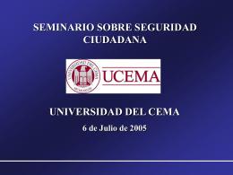 seminario seguridad ciudadana
