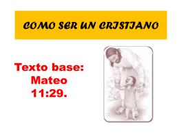 COMO SER UN CRISTIANO