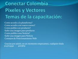 Conectar Colombia Pixeles y Vectores Temas de la …