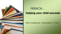 PIAC Conference – November 17, 2012
