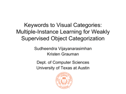 Keywords to Visual Categories: Multiple
