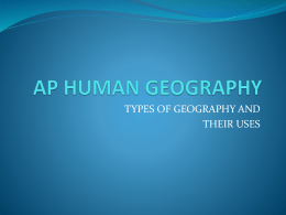 AP HUMAN GEOGRAPHY - Kenton County School District