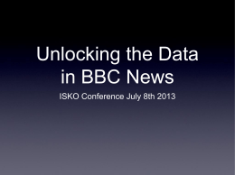 Linked Data in BBC News