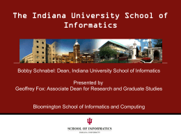 The Future of Information Technology and The Indiana