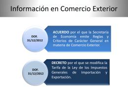 ASPECTOS RELEVANTES EN MATERIA DE COMERCIO …