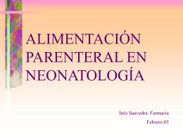 NUTRICION PARENTERAL PEDIATRICA