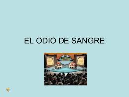 ODIO DE SANGRE
