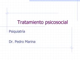 Tratamiento psicosocial - Universidad de Oviedo