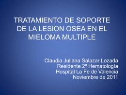 tratamiento de soporte de la lesion osea en el mieloma