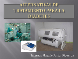 Alternativas de tratamiento para la diabetes