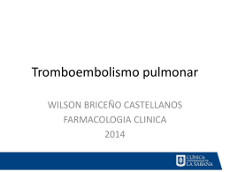Tromboembolismo pulmonar - clinicalevidence [licensed …
