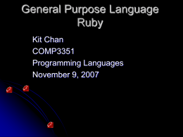 General Purpose Language Ruby
