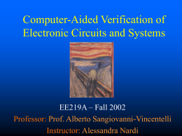 Computer-Aided Verification of Electronic Circuits and …