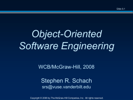 Object-Oriented and Classical Software Engineering …