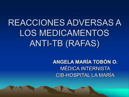 REACCIONES ADVERSAS A LOS MEDICAMENTOS ANTI