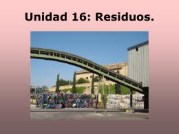 Unidad 16: Residuos. - IES LA PATACONA: PORTADA