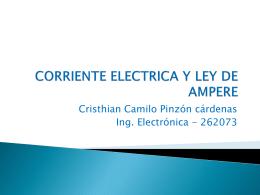 CORRIENTE ELECTRICA Y LEY DE AMPERE