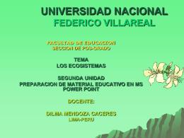 UNIVERSIDAD NACIONAL FEDERICO VILLAREAL