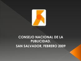 CONARES El Salvador 2007