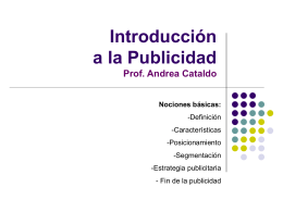 Curso de Marketing y Publicidad interna y externa