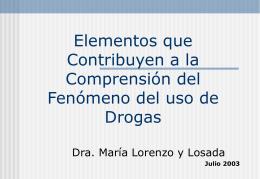 CICLO VITAL - Junta Nacional de Drogas | Ante el …