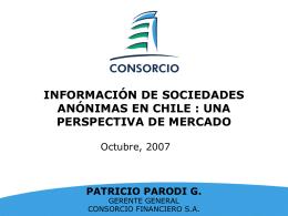 INFORMACION DE SOCIEDADES - Inicio