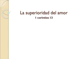 La superioridad del amor