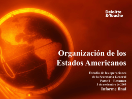 EXECUTIVE SUMMARY - OAS :: Department of …