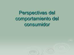 Perspectivas del comportamiento del consumidor