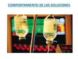 COMPORTAMIENTO DE LAS SOLUCIONES