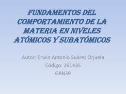 Fundamentos del Comportamiento de la Materia en …